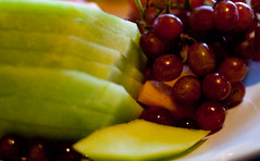 Fruity colours! (J.R. Rondeau) Tags: rondeau yellowknife nt nwt colours colors food desserts brunch cake fruits explorerhotel canoneos canon50mmf18 photoshopelements10