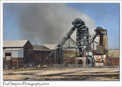 Hatfield Colliery, South Yorkshire (Paul Simpson Photography) Tags: hatfieldmain colliery coalmine fire june2018 grassfire urbex urban decay mining southyorkshire hatfield sunny sunshine paulsimpsonphotography industry industriallandscape bluesky ncb imagesof imageof photoof photosof windinggear headstock employment emergency smoke sony building headstack industrial dereliction