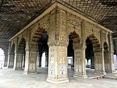 A Work of Art (Mary Faith.) Tags: red fort india delhi army brick building art stone marble arches inlay
