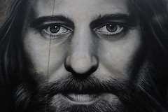 looking but not seeing (tom.edwards1974) Tags: melbourne victoria australia graffiti lane winter blackandwhite man face portrait