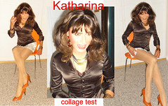 photocollage one (Katvarina) Tags: crossdress crossdressing crossdresser kat transgirl transgender transpeople tgirl satin satinblouse