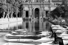 Reflections (sharon.verkuilen) Tags: spain seville andalusia plazadeespana parquedemarialuisa reflection sonya7rii blackwhite