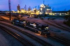 Gettin' the train ready (Matthew DeLanghe) Tags: norfolksouthern ns indiana in pan highhood dusk industry yard train track rr