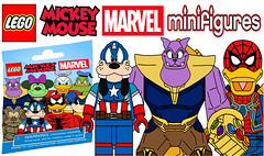 Funny Lego Mickey Mouse Marvel CMF Series !!! (afro_man_news) Tags: lego cmf minifigures series marvel mickey mouse minnie donald duck daisy goofy pete custom moc fake all new thanos infinity war spiderman captain america iron man thor hulk black panther starlord groot scarlet witch gamora drax