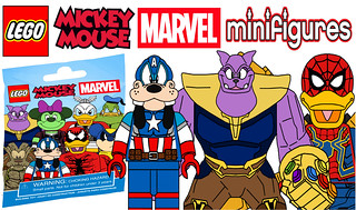 Funny Lego Mickey Mouse Marvel CMF Series !!!