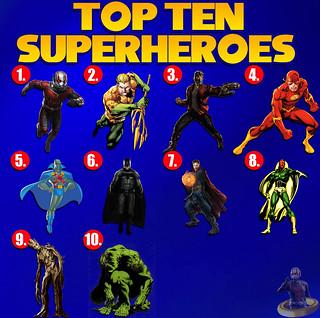 Top Ten Superheroes