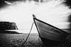 3271 (Elke Kulhawy) Tags: etretat bnw france monochromes wasser meer strand art ozean kunst boot steine bucht felsen blackandwhite