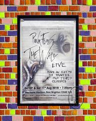 Pink Floyd The Wall Advert Set On Coloured Bricks (PHH Sykes) Tags: pink floyd the wall advert poster coloured bricks new brighton merseyside