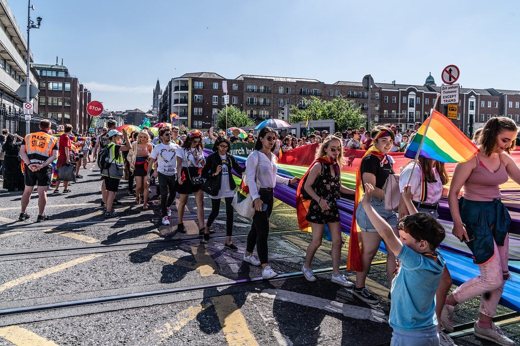 ABOUT SIXTY THOUSAND TOOK PART IN THE DUBLIN LGBTI+ PARADE TODAY[ SATURDAY 30 JUNE 2018] X-100061