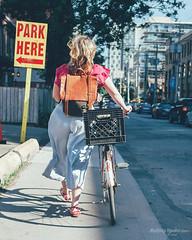 BikeTO Park Here (Rolling Spoke) Tags: bike bicycle bici bicicleta bicicletta bisiklet fiets fahrrad velo women basket park here sign bicyclist toronto