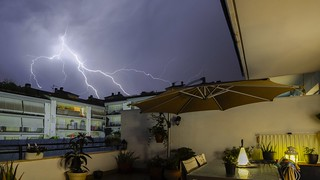 Stormy night at home.