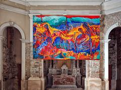 Il sacro e il profano... (@oloarge) Tags: chiesa church colore color oloarge pirano slovenia slovenija interno interiors art