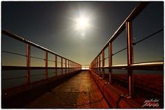 mini pier Brighton night long exposure (psychosteve-2) Tags: mini pier brighton night long exposure moon