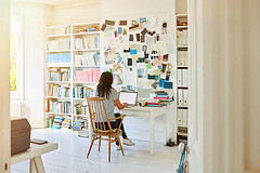 Woman working at home - Credit to https://www.lyncconf.com/ (nodstrum) Tags: work home time today hardwork working workethic homework officework cubicle workplace money jobs networking desk