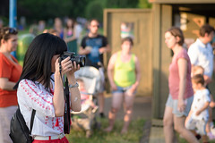 Photographer (Hattifnattar) Tags: people girl photographer bokeh pentax fa77mm limited canon