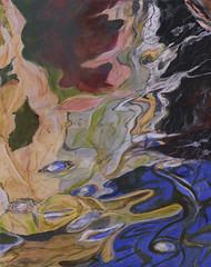 Reflecting On Malaig (Kurseong I) Tags: water reflections colour abstract acrylic painting art