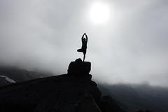 In balance (brittajohansson) Tags: zen yoga balance inbalance harmony mountains mountain rocks climbing hiking norway norwegian rocky silhouttes spiritual spirit scandinavia