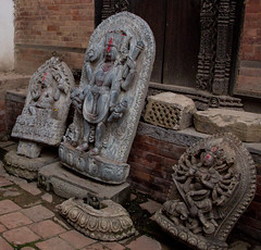Stones saved from the earthquake (SamKirk9) Tags: nepal kathmandu bhaktapur