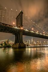 The Sentinel (ADFitz1967) Tags: manhattanbridge sentinel manhattan newyork eastriver reflection cityscape thebigapple freedomtower longexposure brookylnbridge nyc