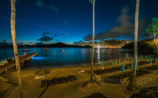 City lights across the bay