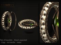 KUNGLERS - Bromelia AD copper (AvaGardner Kungler) Tags: kunglers avagardnerkungler shinyshabby secondlife virtual jewelry digital mesh bracelets accessories fantasy