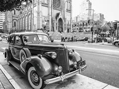 For a Buick 8 (Thomas Hawk) Tags: america buick buick8 california nobhill sanfrancisco usa unitedstates unitedstatesofamerica auto automobile bw car us fav10 fav25 fav50 fav100
