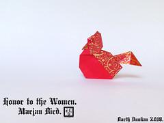 Honor to the Women Marjan Bird - Barth Dunkan (Magic Fingaz) Tags: barthdunkan bird burung chim oiseau origami origamibird pájaro pássaro ptak uccello vogel птица นก 鳥 鸟