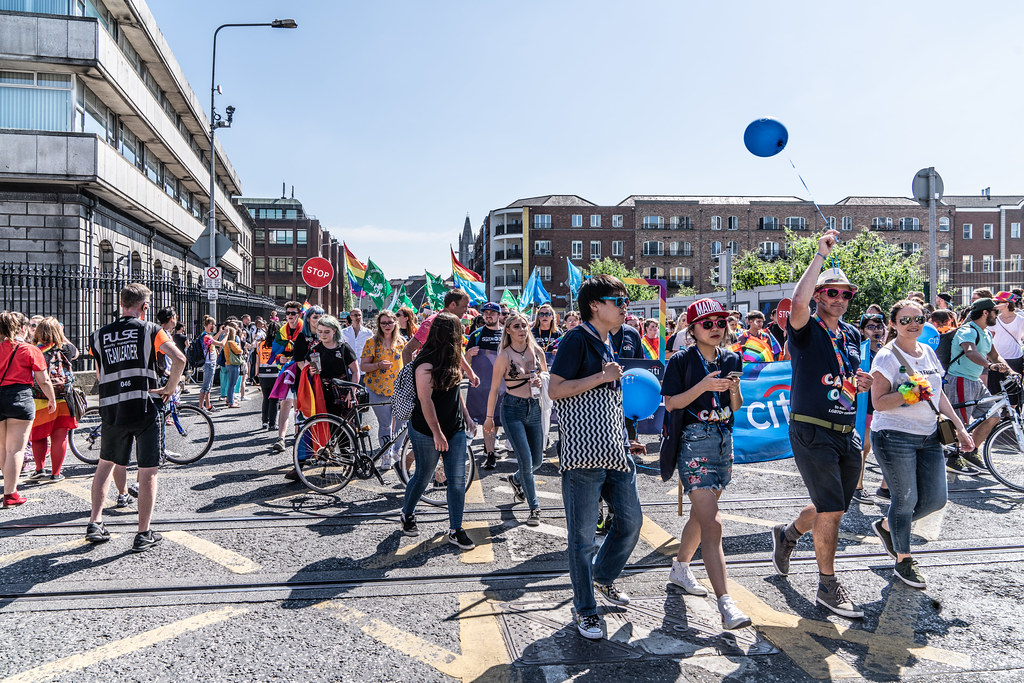 ABOUT SIXTY THOUSAND TOOK PART IN THE DUBLIN LGBTI+ PARADE TODAY[ SATURDAY 30 JUNE 2018] X-100085
