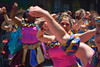 Carnaval Parade SF 120 (TheseusPhoto) Tags: colors colorsoftheworld costume parade carnaval carnaval2018 carnavalsf people candid streetphotography street celebration face women girl smile dance
