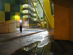 GOING TO THE STADIUM (André Pipa) Tags: alvaladexxi footballstadium sportingcp lisboa lisbon architecture arquitectura reflection photobyandrépipa