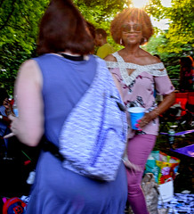 Millennium Park (tacosnachosburritos) Tags: urban millennium park chicago windy city afrocentric dance house music dancing africanamerican black woman girl chick milf lady boogie trees sunshine