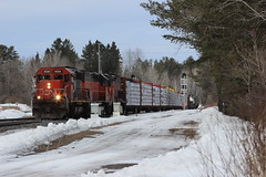 Coming off the Iron Range (MrLuebeck) Tags: cn6024 ble901 ble904 sd40t3 sd40u sd403 l594 ironrange missabe cn ble dmir