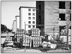 The Colossus of Prora (unukorno) Tags: binz mecklenburgvorpommern deutschland buildingsite building rügen koloss ostsee balticsea bw blackwhite sw monochrome frame