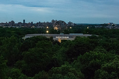 Queens Museum (UrbanphotoZ) Tags: terraceonthepark worldsfair queensmuseum unisphere dusk 1964 newyorkworldsfair trees floodlights apartmentbuildings flushingmeadowspark corona queens newyorkcity newyork nyc ny