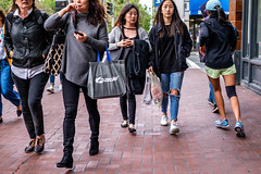 San Francisco 2018 (burnt dirt) Tags: sanfrancisco california vacation town city street road sidewalk crossing streetcar cablecar tree building store restaurant people person girl woman man couple group lovers friends family holdinghands candid documentary streetphotography turnaround portrait fujifilm xt1 color laugh smile young old asian latina white european europe korean chinese thai dress skirt denim shorts boots heels leather tights leggings yogapants shorthair longhair cellphone glasses sunglasses blonde brunette redhead tattoo pretty beautiful selfie fashion japanese mother daughter hole injury