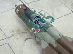 "1:72 Mikoyan-Gurevich MiG-21MF (Lancer C); aircraft ""L21-02/Celje"" of the Slovenian Air Force and Air Defence's 154th Fixed Wing Squadron (Letalska Lovec Eskadrila/Interceptor Squadron); Cerklje ob Krki air base, 2006 (Whif/Kopro kit) (dizzyfugu) Tags: 172 mig 21 fishbed lancer mig21 mikoyan gurevich slovenia air force defence letalska lovec eskadrila interceptor squadron cerklje ob krki base green brown olive drab fictional aviation aircraft fighter kp kovozavody kopro model kit conversion r50 aphid aam missile 154th fixed wing celje crest modellbau dizzyfugu"