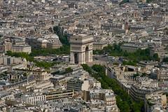 Arc de Triomphe de l'Étoile, view from Eiffel Tower (Marianna Gabrielyan) Tags: arcdetriomphedelétoile charlesdegaulle paris france eiffel tower champsélysées triumphal arch star panorama travel