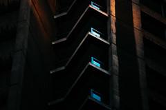 11,976 (Panda1339) Tags: blue london ldn dark light uk barbican sunsetlight block red zeiss aposonnart1352 zf2 abstract architecture aposonnart2135 carlzeiss 135mm