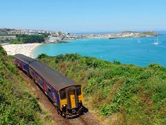 150219 Porthminster Point, St Ives (Marky7890) Tags: gwr 150219 class150 sprinter 2a22 porthminsterpoint stives railway cornwall stivesbayline train