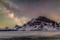 Milky Way over Crowfoot Mountain (Chuck - PhotosbyMCH.com) Tags: photosbymch landscape astrophotography milkyway crowfootmountain bowlake banffnationalpark alberta canada 2017 canon 5dmkiii longexposure singleexposure mountains snow ice travel spring outdoors stars night nightscape nightsky