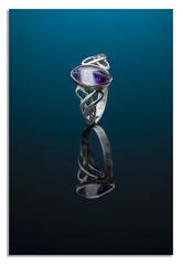 "Marquise Celtic Ring: Blue (johnhjic) Tags: ""marquisecelticring"" ""silverbluejohn""marquise celtic ring silver ""bluejohn""nikon ""nikond850"" d850 studio style broncolor siros flash reflection johnhjic macro nikon blue marquise jewellery"