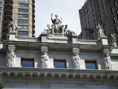 Four Seasons Caryatids - Court House Roof NYC 5450 (Brechtbug) Tags: seasonal caryatid mystery women l r winter spring autumn summer courthouse roof statues across from madison square park new york city atlantid 2018 nyc 07152018 art architecture gargoyle gargoyles statue sculpture sculptures facade figures column columns court house law government building seasons season buildings four caryatids