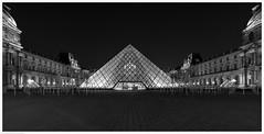 Musee du Louvre at Night IV / Paris, France (Andrew James Howe) Tags: paris france louvre museedulouvre
