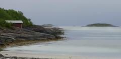 Kjerringoy. Nordland. Norway (ibethmuttis) Tags: sea fjord landscape sand sky hutte shrubbery kjerringoy nordland norway rocks panasonic lumixlx100