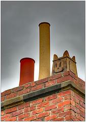 Chimney potty (bob the bolder) Tags: uk codurham beamish museum farmhouse chimney face