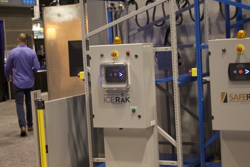 IceRak, a version of the motorized SafeRak system, is designed for use in the cold chain.
