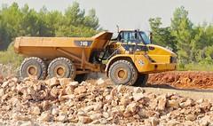 P1630283 (Denis-07) Tags: caterpillar tombereau benne 740 dtp dumper truck machine engins chantier terrassement france