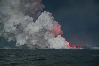 Hawaii Kilauea Volcano Lava Laze Boat Tour View 1