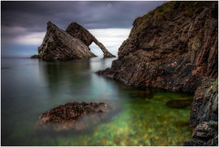 Calm Before the Storm (Augmented Reality Images (Getty Contributor)) Tags: nisifilters benro bowfiddlerock calm canon cliffs clouds landscape longexposure morayfirth nature portknockie rocks scotland seascape water