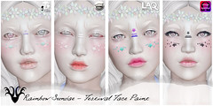 *Rainbow Sundae* Festival Face Paint @ Cosmetic Fair (rainbowmubble) Tags: rainbowsundae cosmeticfair appliers laq lelutka catwa omega